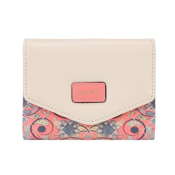 Damara Womens Trifold Allover Faux Lether Small Wallet