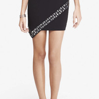 Jeweled Asymmetrical Wrap Skirt from EXPRESS