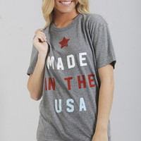 friday + saturday: made in the usa tee