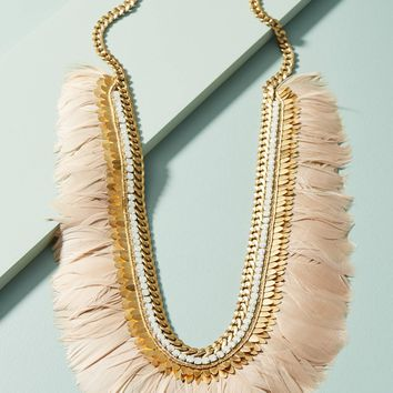 Marnita Feather Bib Necklace