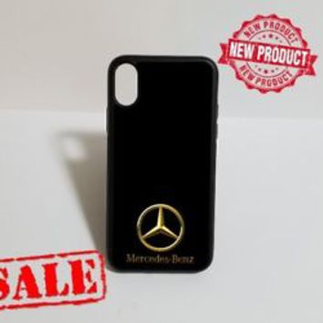 Mercedes Benz Gold Logo Luxury Fit Hard Case For iPhone 6 6s 7 8 Plus X Cover +