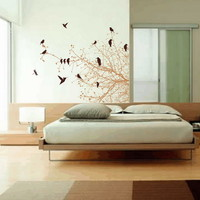 Wall Decal Bare Tree Branches And B.. on Luulla