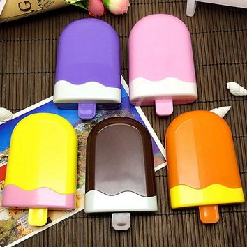 1Pc popsicle Ice cream contact lens case for lenses container box for glasses Random Color