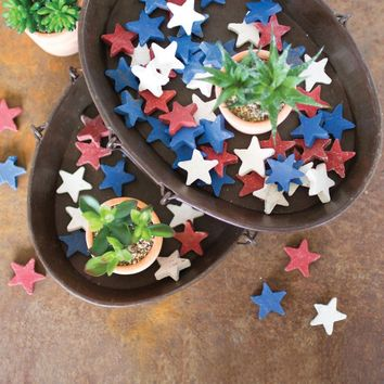 Red, White And Blue Clay Stars (Bag of 75)