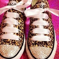 Customised pink converse from somethingspecial