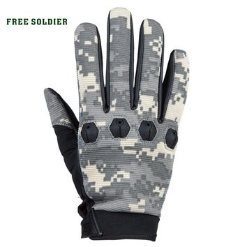 FREE SOLDIER outdoor hawk tactical gloves riding mountain climbing movement scratch resistant full finger gloves