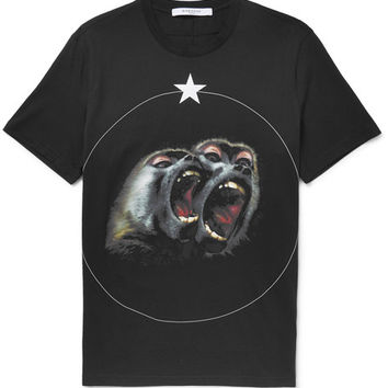 Givenchy - Monkey Brothers Cuban-Fit Printed Cotton-Jersey T-Shirt