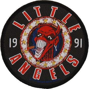 Little Angels Men's Product Of The Working Class Woven Patch Black