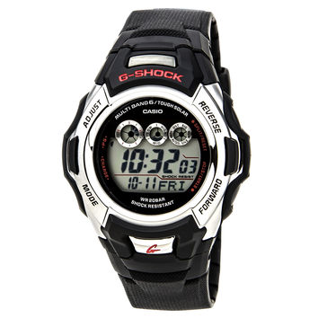 Casio GWM500A-1 Men's G-Shock Tough Solar Atomic Grey Dial Black Rubber Strap Alarm Digital Dive Watch