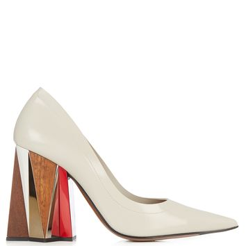 Leather block-heel pumps | Marni | MATCHESFASHION.COM UK