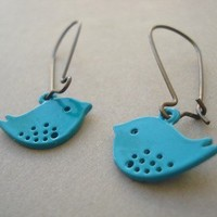 Bluebird Earrings by MDsparks on Etsy