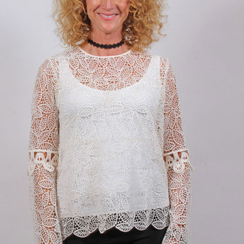 Royal Lace Poet Blouse