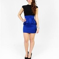 Babydoll Peplum Bodycon Dress