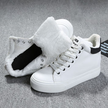 2016 Fashion Women Winter Snow Boots keep Warm Boots Plush Ankle boot Snow Work Shoes Women's Outdoor Snow Boots 35-37