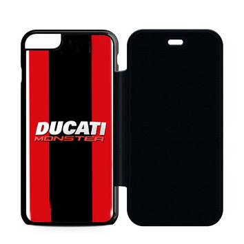 Ducati Monster Motorcycle Flip Case iPhone 6 | iPhone 6S | iPhone 6S Plus  Case