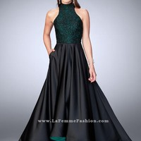 La Femme 24234 Prom Dress with Contrast Lining