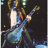 Led Zeppelin Jimmy Page Los Angeles 1972 Poster 24x33