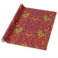 Colorful Organic Pattern Wrapping Paper
