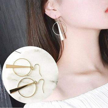 ES149 Geometric Triangle Drop Earrings Fashion Jewelry boucle d'oreille Women Dangle Circle Brincos 2017 Bohemian High Quality