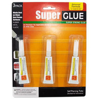 3-Piece Super Glue Set (Bulk Lot of 24 Packs)