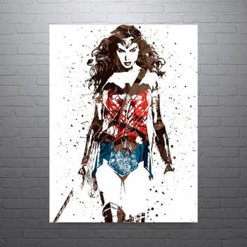Wonder Woman Batman v Superman Poster