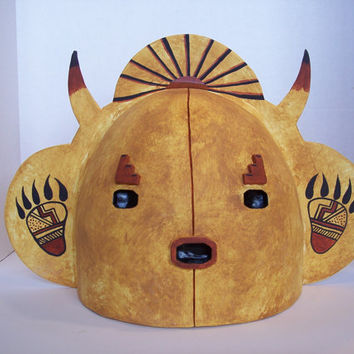 Horned Mask Interior Wall Light