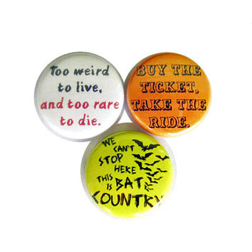 Fear and Loathing in Las Vegas Pinback