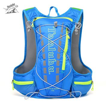 Tanluhu 679 15L Outdoor Backpack Bag Hydration Running Bags Backpack Pack For Running Riding With Reflective Stripe