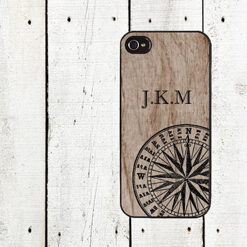 Custom Compass Phone Case iphone 4 4s & iPhone 5 for iphone 5 iphone 5s iphone 5c  iphone 4 iphone 4s samsung galaxy s3 s4 Father's Day Gift