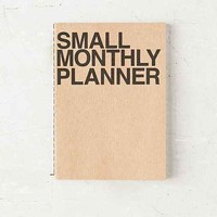 Poketo Small Monthly Planner Notebook- Brown S