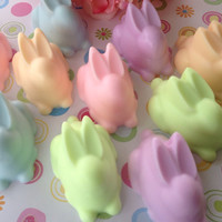Bunny Soap - Easter soap, handcrafted glycerin, soaps for kids