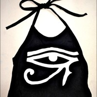 SWEET LORD O'MIGHTY! EYE OF HORUS HALTER IN BLACK
