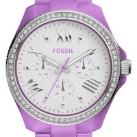 Women's Fossil 'Cecile' Multifunction Bracelet Watch, 40mm - Purple