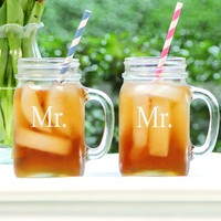 Cathy's Concepts 'For The Couple' Mason Jar Glasses (Set of 2)