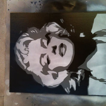 Marilyn Monroe Painted Stencil by sleepwellstencil on Etsy
