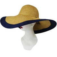 BLOCK STRIPE BEAUTIFUL SUNNY SUN HAT