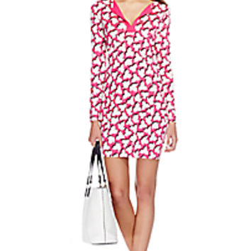 DVF Reina Silk Jersey Tunic Dress