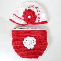 Baseball Girl Crochet Cap Fromr Newborn To Adult Size With big Flower