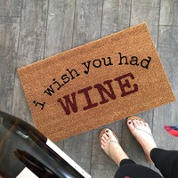 BOOZE Doormat / Beer, Wine, Champs Doormat