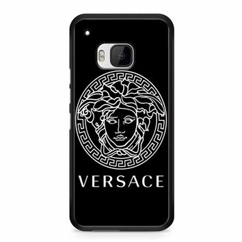 Versace Logo Black HTC M9 Case