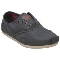 TOMS Gray Waxed Twill Cordones Grey Casual Shoes