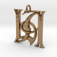 Monogram Initials LA Pendant by CalicoFlair on Shapeways
