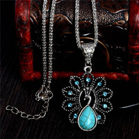 Lovely Peacock Pendant Necklace