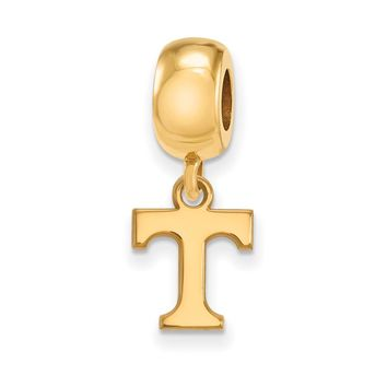 NCAA 14k Gold Plated Silver University of Tennessee XS Dangle Charm