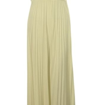 Suzi Chin Women's V-Neck Lace Pleated Jersey Empire Gown Dress