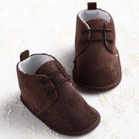 Classy Corduroy casual Baby boy girl shoes infant toddler crib 1-18 months 3 sizes gentle