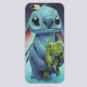 Stitch and frog cell phone cases for iphone 4 4s 5 5c 5s 6 6s plus
