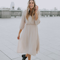 The Wesley Dress in Nude