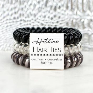Hotline Hair Ties Set - Black Diamond
