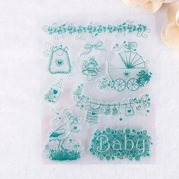 2017 Fashion Wedding DIY Large Transparent Rubber Stamp Seal DIY Silicone Craft Scrapbooking Decor Craft Home Decor Decoration